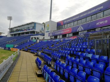 Empty stands at a cricket ground   Sporting Heritage CIC