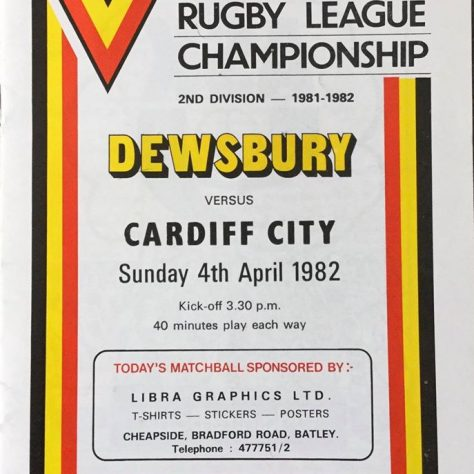 One of the rugby League programmes that the organisation uses in the memory sessions   Dewsbury Memories