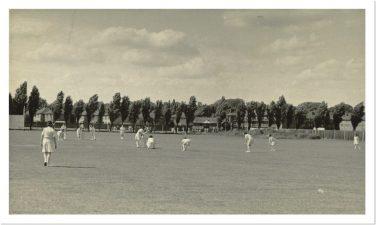 Civil Service Ladies Cricket Team on the cricket field. | Civil Service Heritage