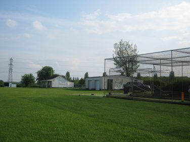 Lawn and netted batting practice area of Purton Cricket Ground | Rebecca Davies BSc.