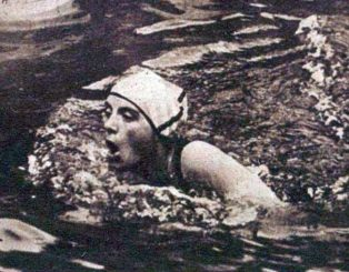 Lucy Morton, former telephonist. 200m Breaststroke, Olympic Champion, 1924
