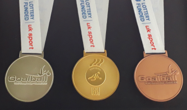 Goalball gold, silver and bronze medals | Kathryn Fielding