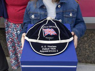 Close up of Harry Halsam's honour cap. | The Hockey Museum