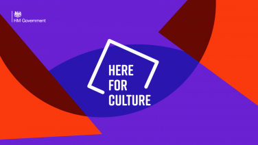 Here for Culture logo | Department for Digital, Culture, Media and Sport (DCMS)