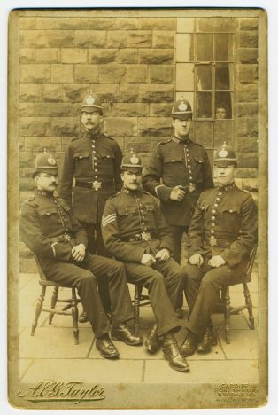 Dick Thomas is seated far right. | South Wales Police Heritage Centre