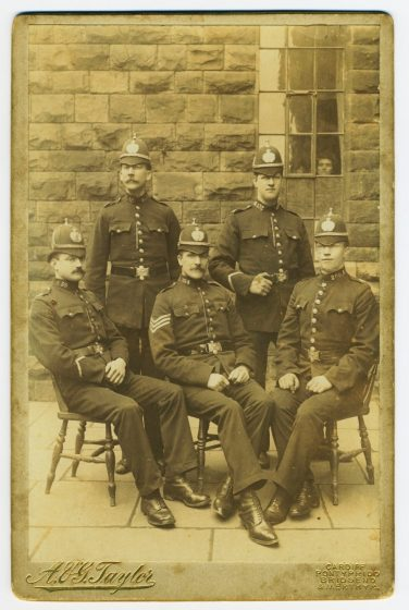Dick Thomas alongside four of his colleagues | South Wales Police Heritage Centre