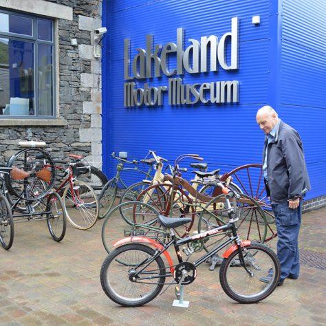 Bicycle Display Outside Lakeland Motor Museum | Lakeland Motor Museum