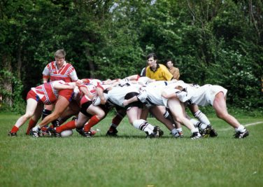 Julia Lee refereeing the Oxford Cavaliers - training course for new referees or whistle blowers. April 1998 | Courtesy of Julia Lee