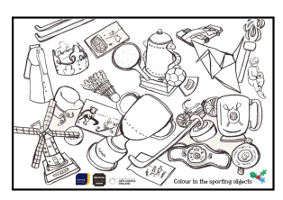 Colour in the sporting objects | Sporting Heritage CIC / Jessica Hartshorn