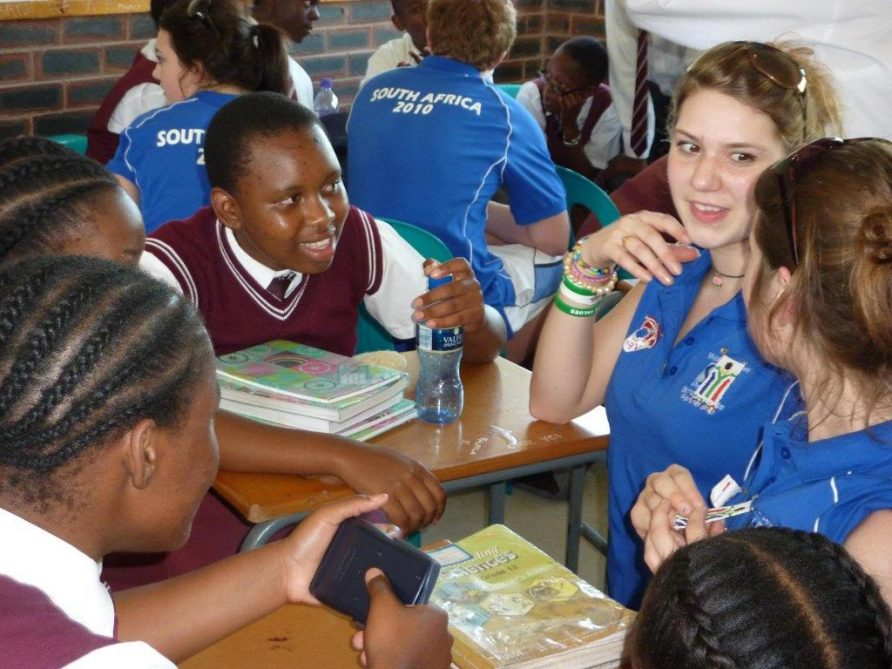 'Young Sports Leaders International Exchange Programme'. Sixth formers from Berkshire schools working with students from, Sithengile High School, South Africa (Durban), 2010 | Derek Peaple
