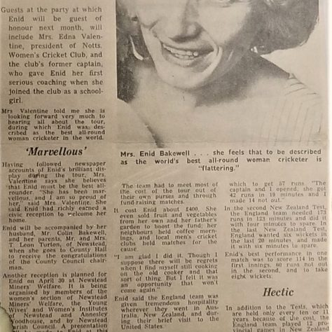 Newspaper article on return from 1968-1969 tour   MCC Museum