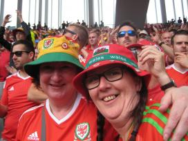 Welsh female football fans
