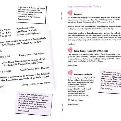 Madge Baranek Tribute Programme, Pages 4-5   Keep Fit Association