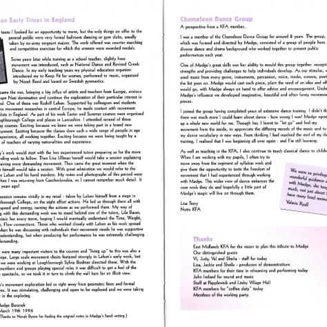 Madge Baranek Tribute Programme, Pages 6-7   Keep Fit Association